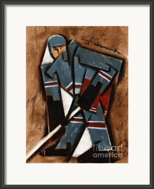 Tommervik Hockey Player Framed Print By Tommervik