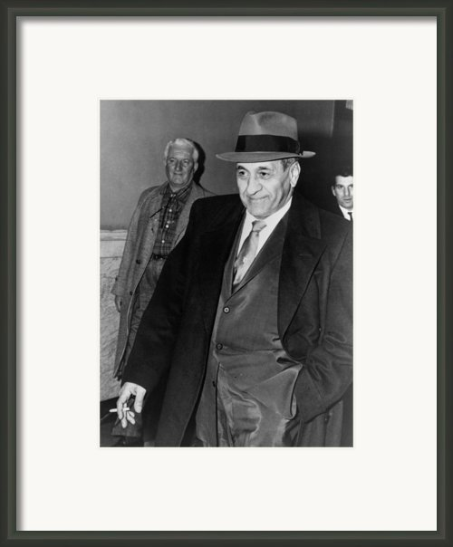Tony Accardo, Successor Of Al Capone Framed Print By Everett