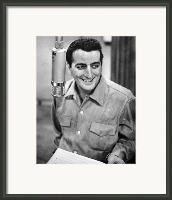 Tony Bennett, C. 1954 Framed Print By Everett
