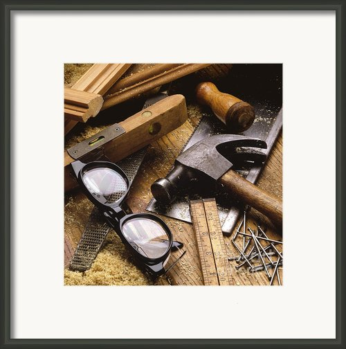 Tools Framed Print By Tony Cordoza