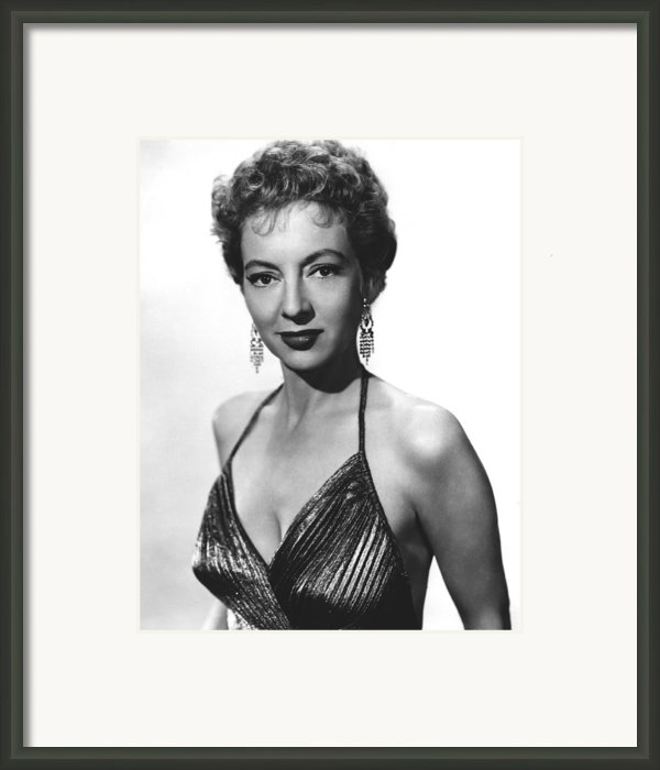 Top Of The World, Evelyn Keyes, 1955 Framed Print By Everett