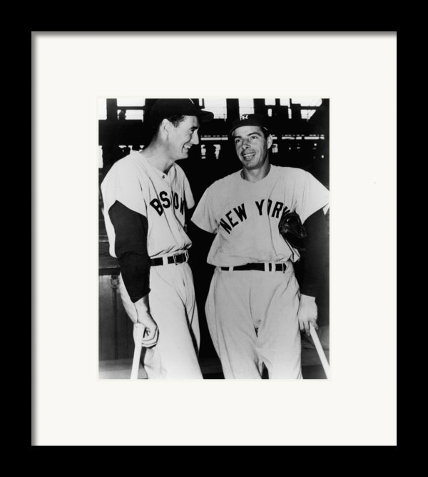 Top Sluggers. Ted Williams Framed Print By Everett