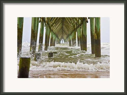 Topsail Island Pier Framed Print By East Coast Barrier Islands Betsy A Cutler