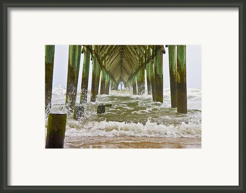 Topsail Island Pier Framed Print By Betsy A Cutler East Coast Barrier Islands