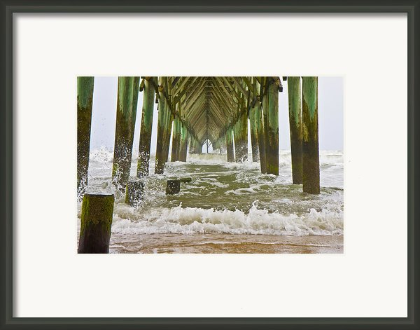 Topsail Island Pier Framed Print By Betsy A Cutler Islands And Science