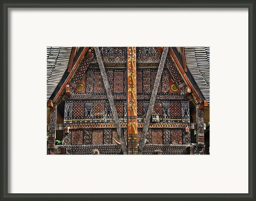 Torajan Tongkonan House In Sulawesi, Indonesia Framed Print By Glen Allison