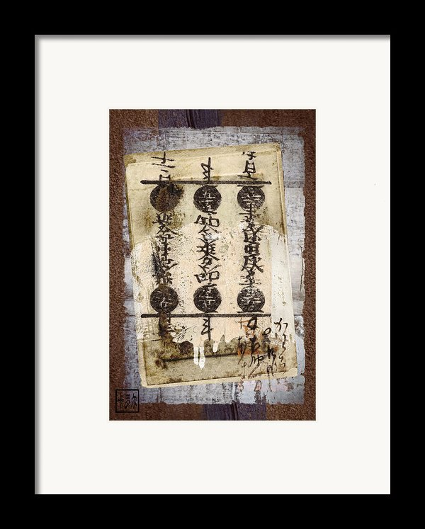 Torn Papers On Wall Number 2 Framed Print By Carol Leigh