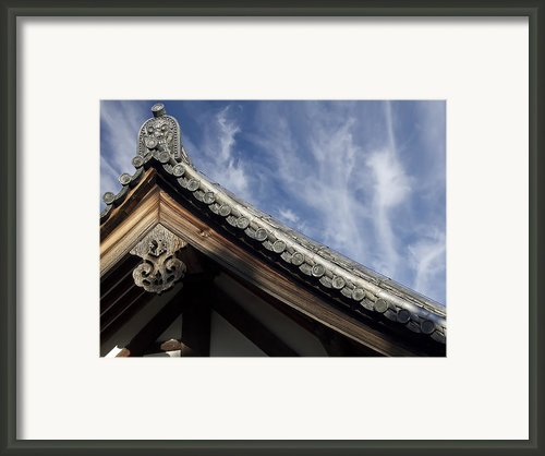 Toshodai-ji Temple Roof Gargoyle - Nara Japan Framed Print By Daniel Hagerman