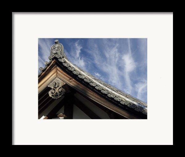 Toshodai-ji Temple Roof Gargoyle - Nara Japan Framed Print By Daniel Hagerman