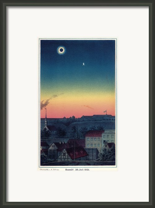Total Solar Eclipse, 1851 Artwork Framed Print By Detlev Van Ravenswaay