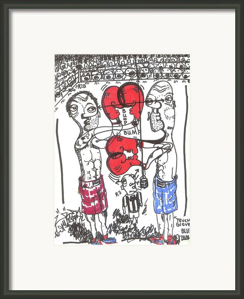 Touch Gloves Framed Print By Robert Wolverton Jr