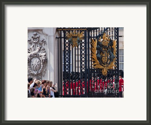 Tourists At Changing Of The Guards Framed Print By Andrew  Michael