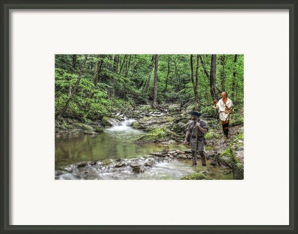 Tracking An Elusive Enemy Framed Print By Randy Steele