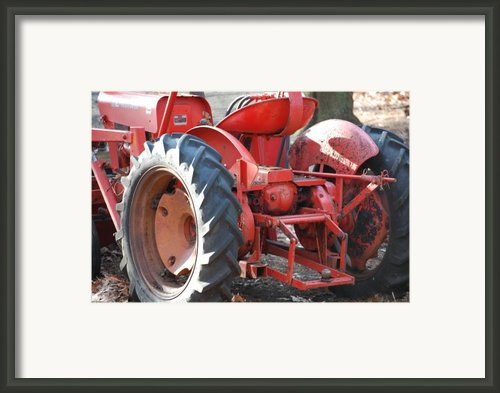 Tractor Framed Print By Peter  Mcintosh