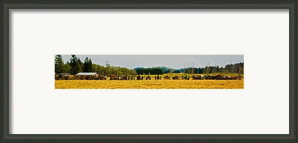 Tractors Ready Framed Print By Dale Stillman