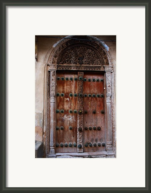 Traditional Carved Door Framed Print By Aidan Moran