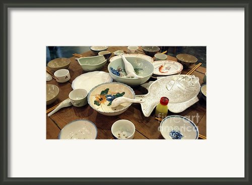 Traditional Chinese Dinner Setting Framed Print By Yali Shi