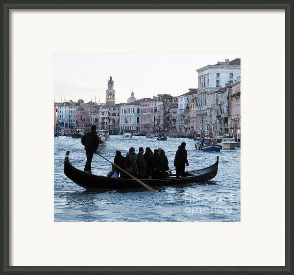 Traghetto . Gran Canal. Venice Framed Print By Bernard Jaubert