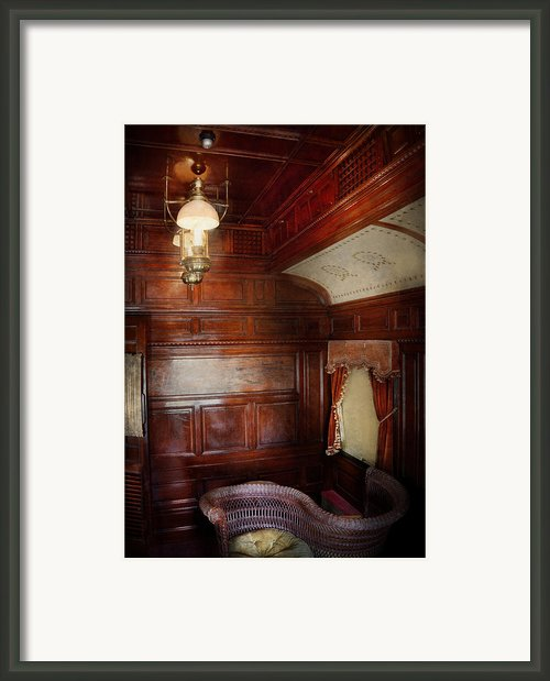 Train - Car - The Lovers Car Framed Print By Mike Savad
