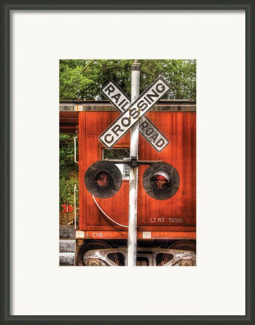Train - Yard - Railroad Crossing Framed Print By Mike Savad