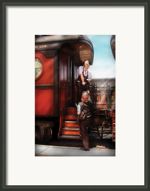 Train - Yard - Receiving A Telegram  Framed Print By Mike Savad