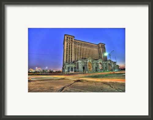 Train Depot Station Detroit Mi Framed Print By Nicholas  Grunas