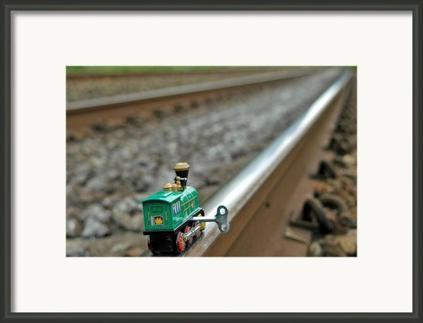 Train On Tracks Framed Print By Bill Kellett