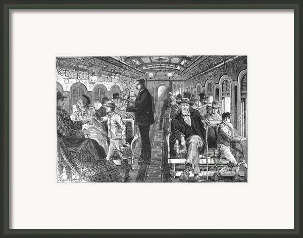 Train: Passenger Car, 1876 Framed Print By Granger