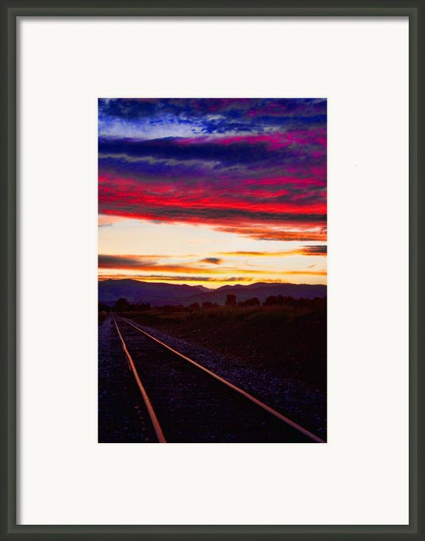 Train Track Sunset Framed Print By James Bo Insogna