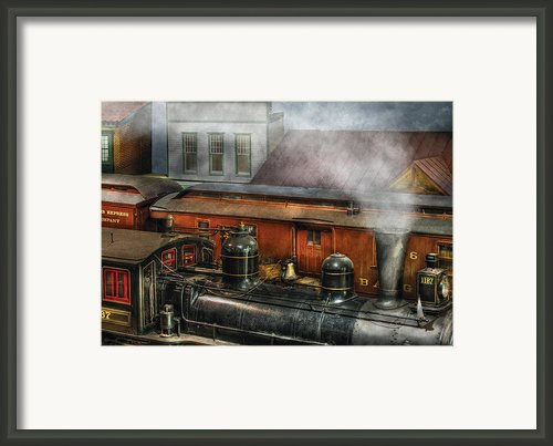 Train - Yard - The Train Yard Ii Framed Print By Mike Savad