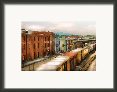 Train - Yard - Train Town Framed Print By Mike Savad