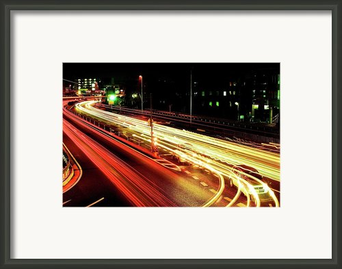 Trajectory Of Light(national Route No.24) Framed Print By Photo By Ball1515