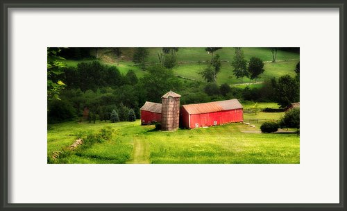 Treasure Hill- Barn Art Framed Print By Thomas Schoeller