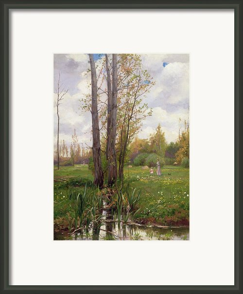 Tree Beside Water  Framed Print By Ernest Le Villain