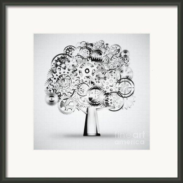 Tree Of Industrial Framed Print By Setsiri Silapasuwanchai