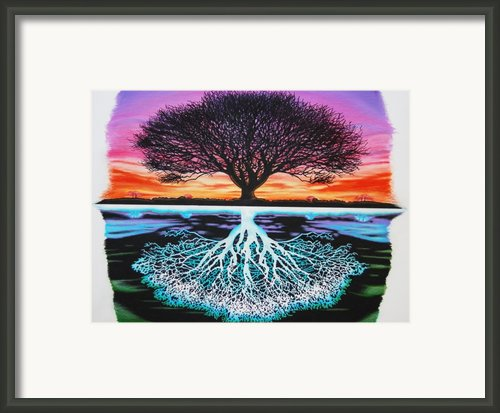 Tree Of Life And Negative Framed Print By Brian Schuster