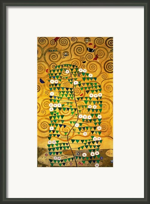 Tree Of Life Stoclet Frieze Framed Print By Gustav Klimt