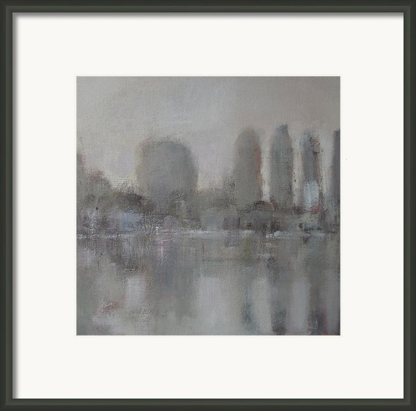 Trees In The Early Morning Mist Framed Print By Alan Daysh