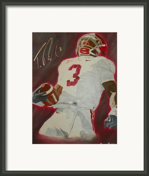 Trent Richardson Alabama Crimson Tide Framed Print By Ryne St Clair