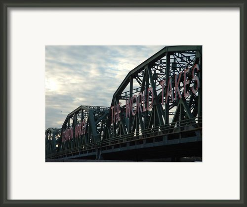 Trenton Makes.... Framed Print By D R Teest