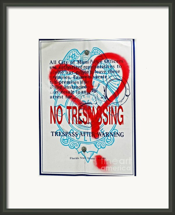 Trespassing Framed Print By Anahi Decanio