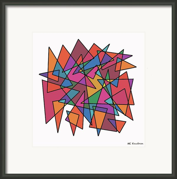 Triangles In Motion Framed Print By Me Kozdron