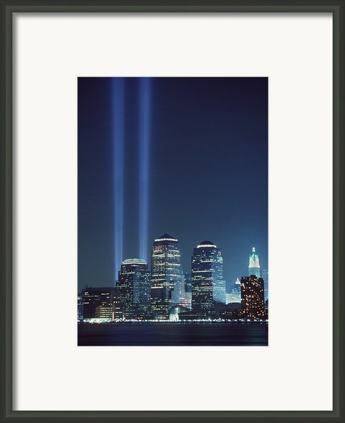 Tribute Of Light Represents The Fallen Framed Print By Everett