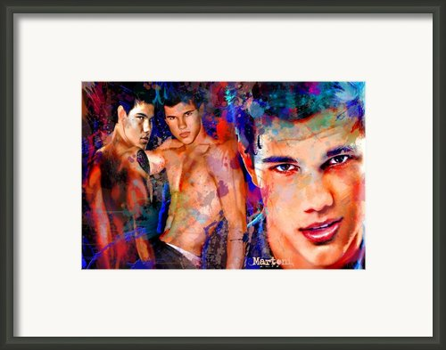 Tribute To Taylor Lautner Framed Print By Alex Martoni