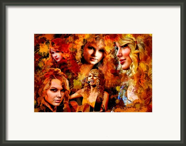 Tribute To Taylor Swift Framed Print By Alex Martoni
