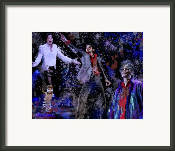 Tribute To The King Of Pop Framed Print By A Martoni