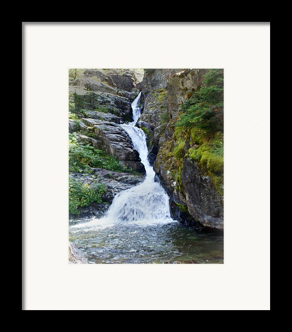 Tricky Falls Framed Print By Marty Koch