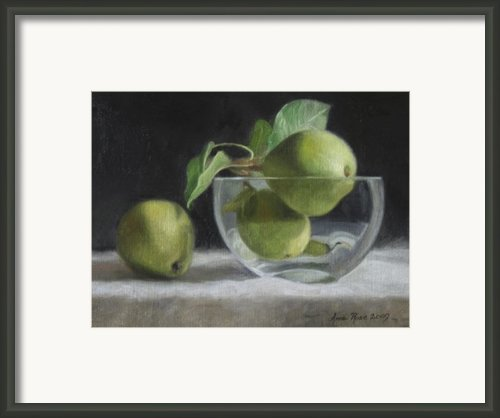 Trio Of Pears Framed Print By Anna Bain