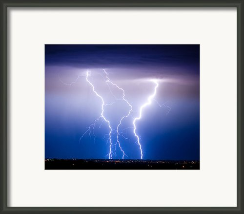Triple Lightning Framed Print By James Bo Insogna