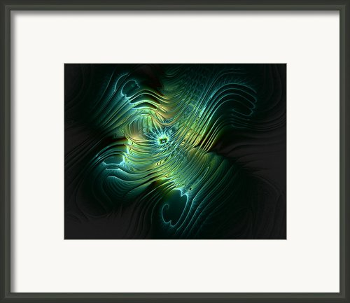 Trippy Teal Framed Print By Amanda Moore